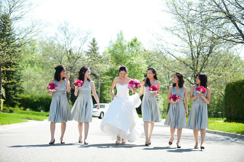 These colors are so cute together love the dusty bluegray love the dusty bluegray bridesmaid dresses with mightylinksfo
