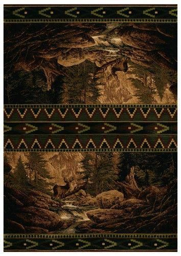 Buck Falls Area Rug 7 Ft 4 In L X 2 Ft 7 In W Brown