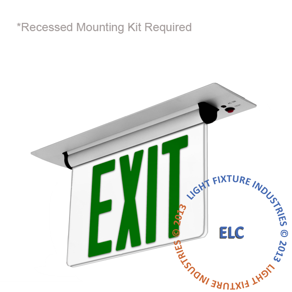 Elrt G Edge Lit Exit Signs Edge Lights Exit Light Co Exit