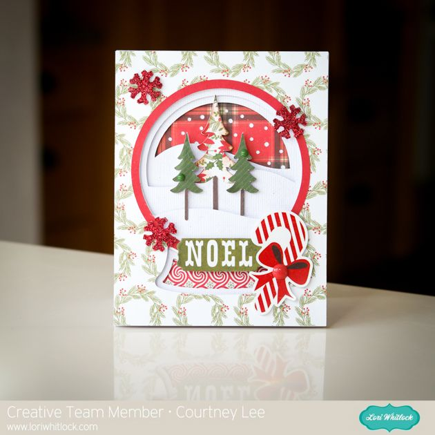 Create Christmas Pretty Snowglobe for cards or craft Do-Crafts Foiled Stickers