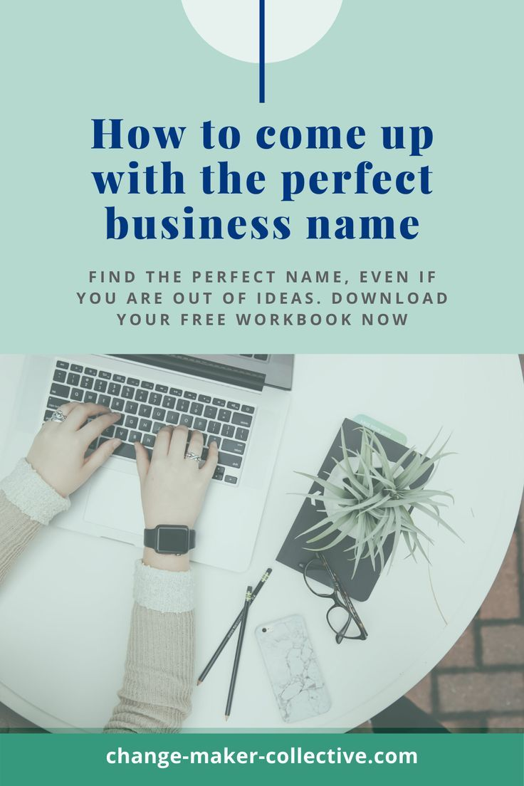 How to come up with the perfect name for your new business