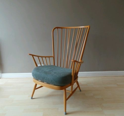 Vintage Ercol No 913 Mid Century Windsor Stick Back Blonde Chair Armchair 1960s 20th Century Chairs Zeppy Io Ercol Furniture Ercol Ercol Chair