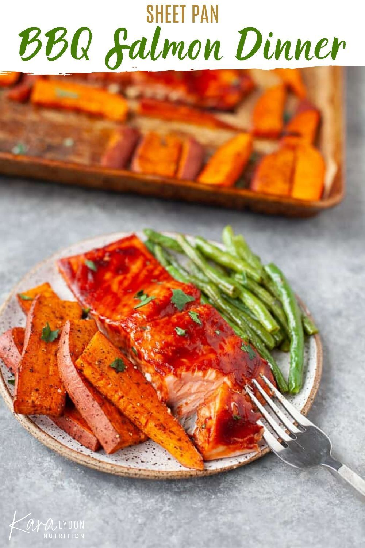 Sheet Pan Bbq Salmon Dinner Recipe In 2020 Salmon Dinner Salmon Dinner Recipes Bbq Salmon