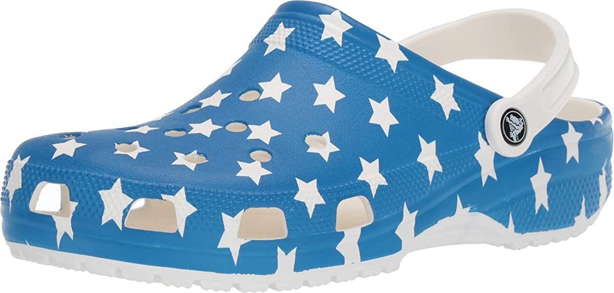 Crocs Classic American Flag Clog, white