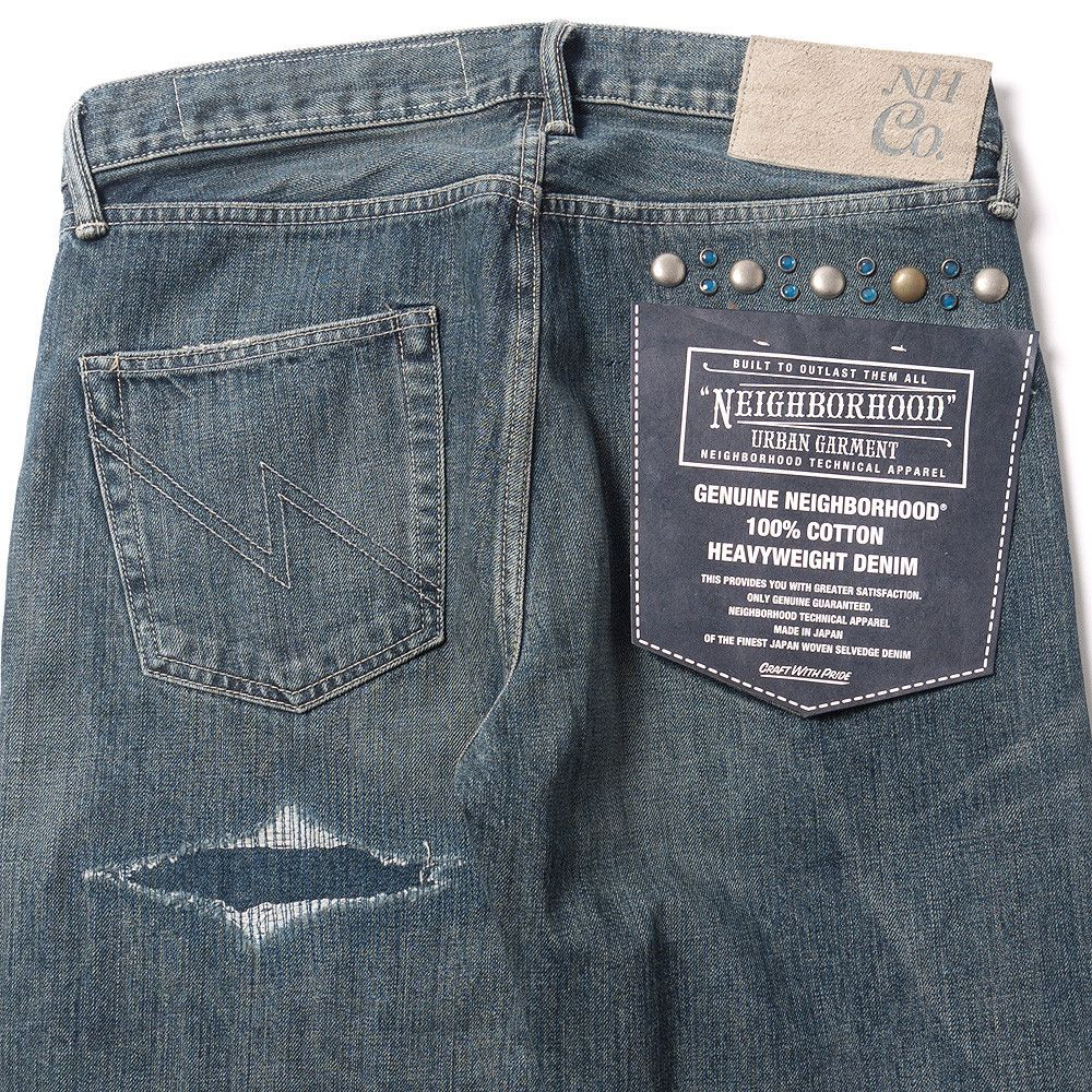 NEIGHBORHOOD Rivet . Savage . Mid / 14Oz-Pt Indigo