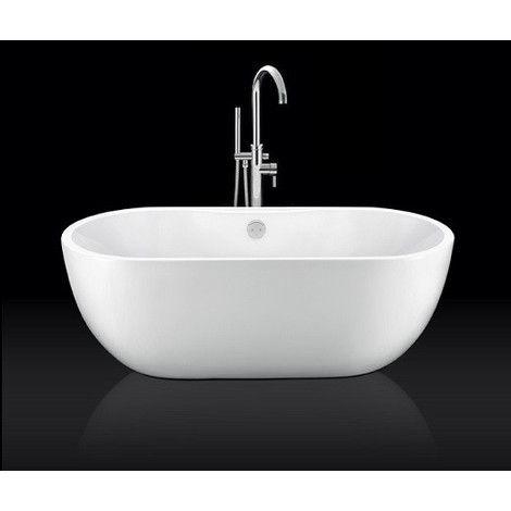 baignoire lot design ovale boston blanche 142 cm d0670 142 203611 baignoire ilot et
