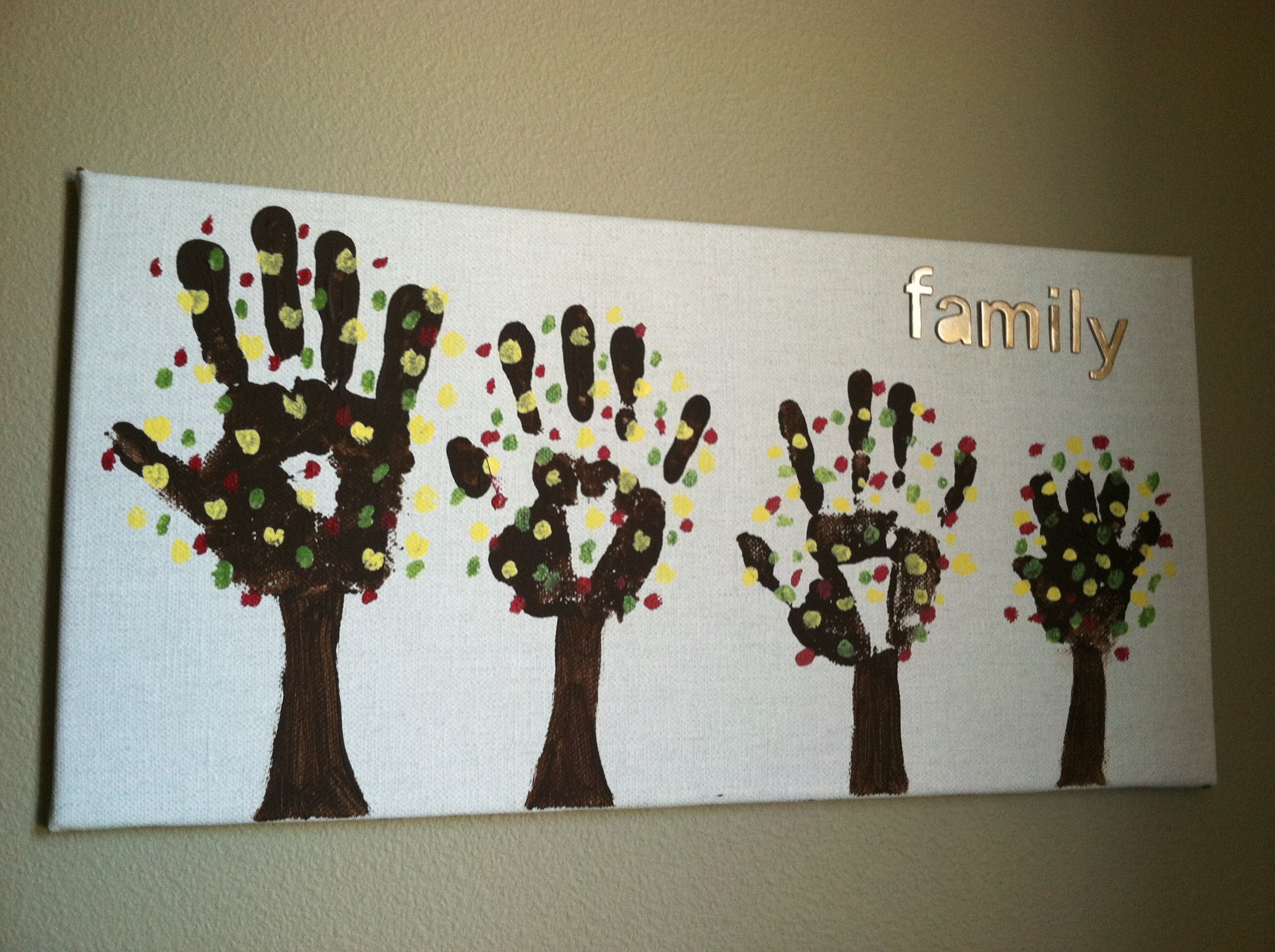 Diy family tree craft craft projects pinterest tree for Family arts and crafts