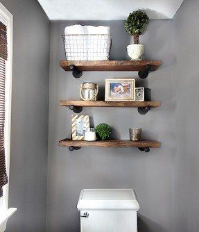 Small Bathroom Shelf. If you are looking for ways to spruce up your small bathroom  then these 15 DIY space saving shelving ideas just Love shelves above the toilet Restoration Hardware