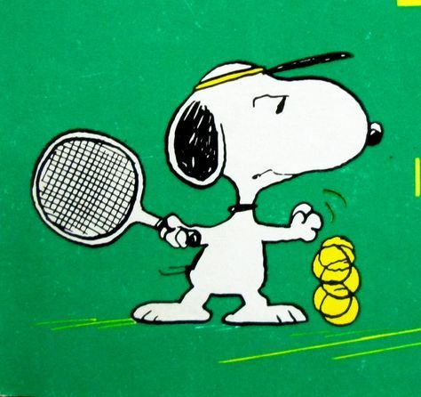 Tennis Pro Collapses After Seeing Snoopy Snoopy Tennis Quotes Tennis Posters