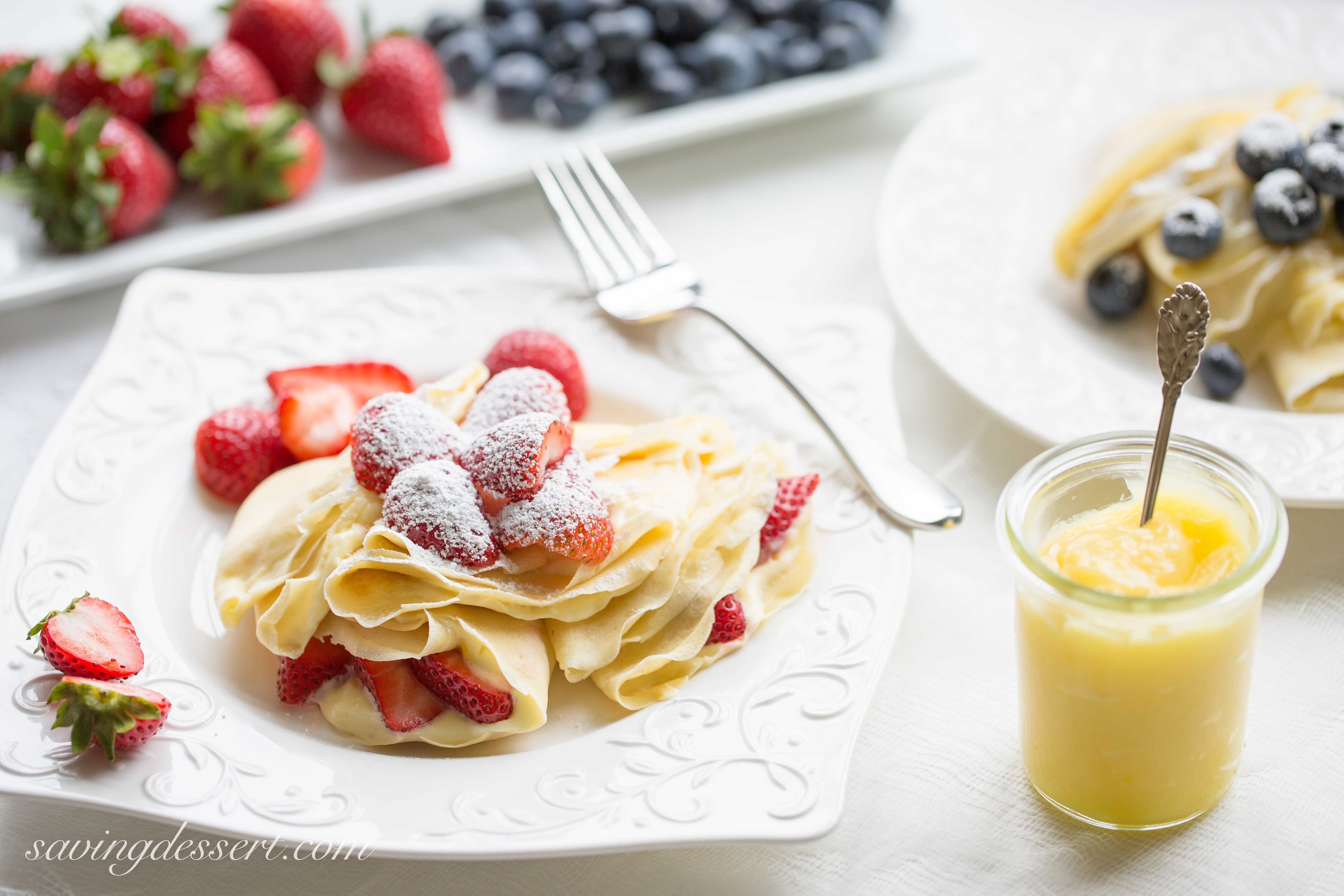 Lemon Crepes With Lemon Creme And Fruit Compote recommendations