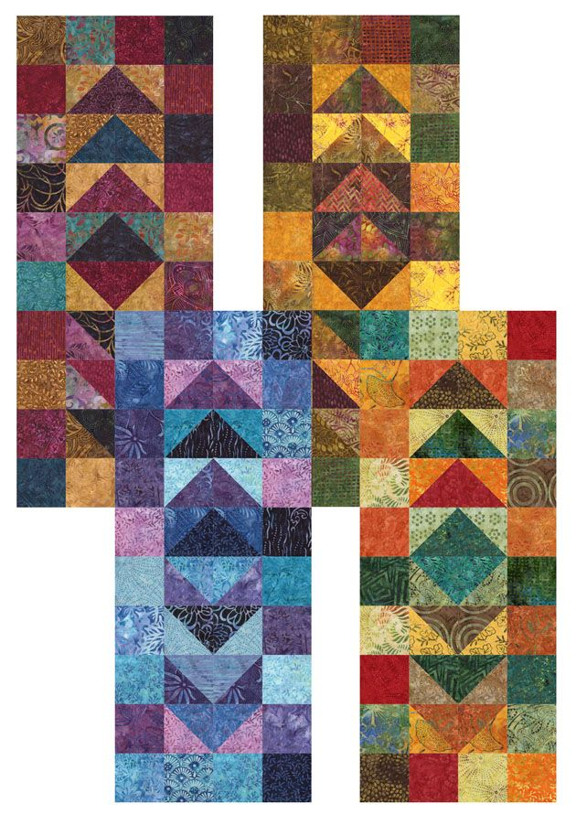 Tonga Treat Minis – Migrating Geese Table Runner by Relatively ... : migrating geese quilt pattern - Adamdwight.com
