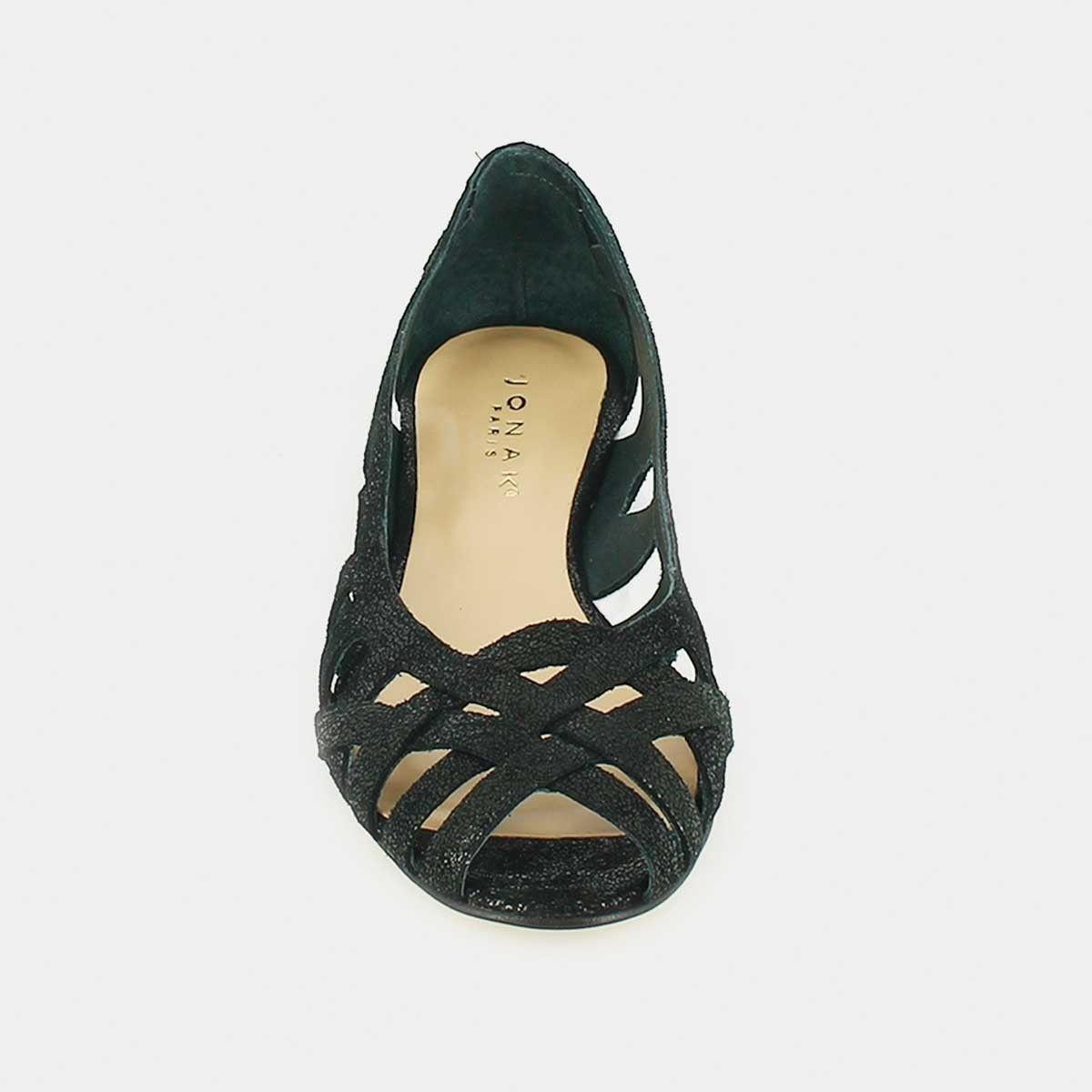 Sandales compensées Jonak en croûte noire