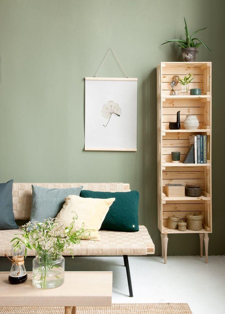DIY Inspiration | Crates Bookshelf #decoratehome