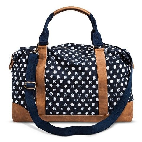 Women S Polka Dot Weekender Handbag Navy Target 24 49 Super Cute Overnight Bag