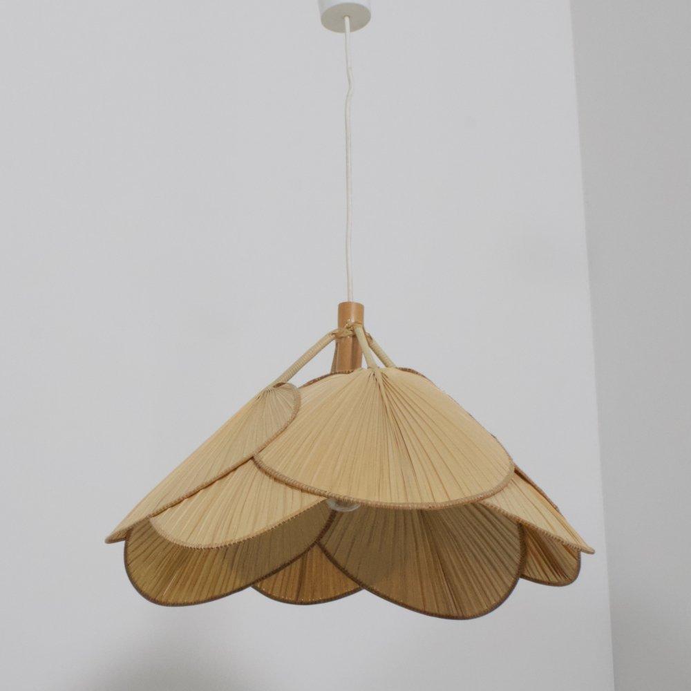 Uchiwa hanging lamp by Ingo Maurer for M Design, 1970s