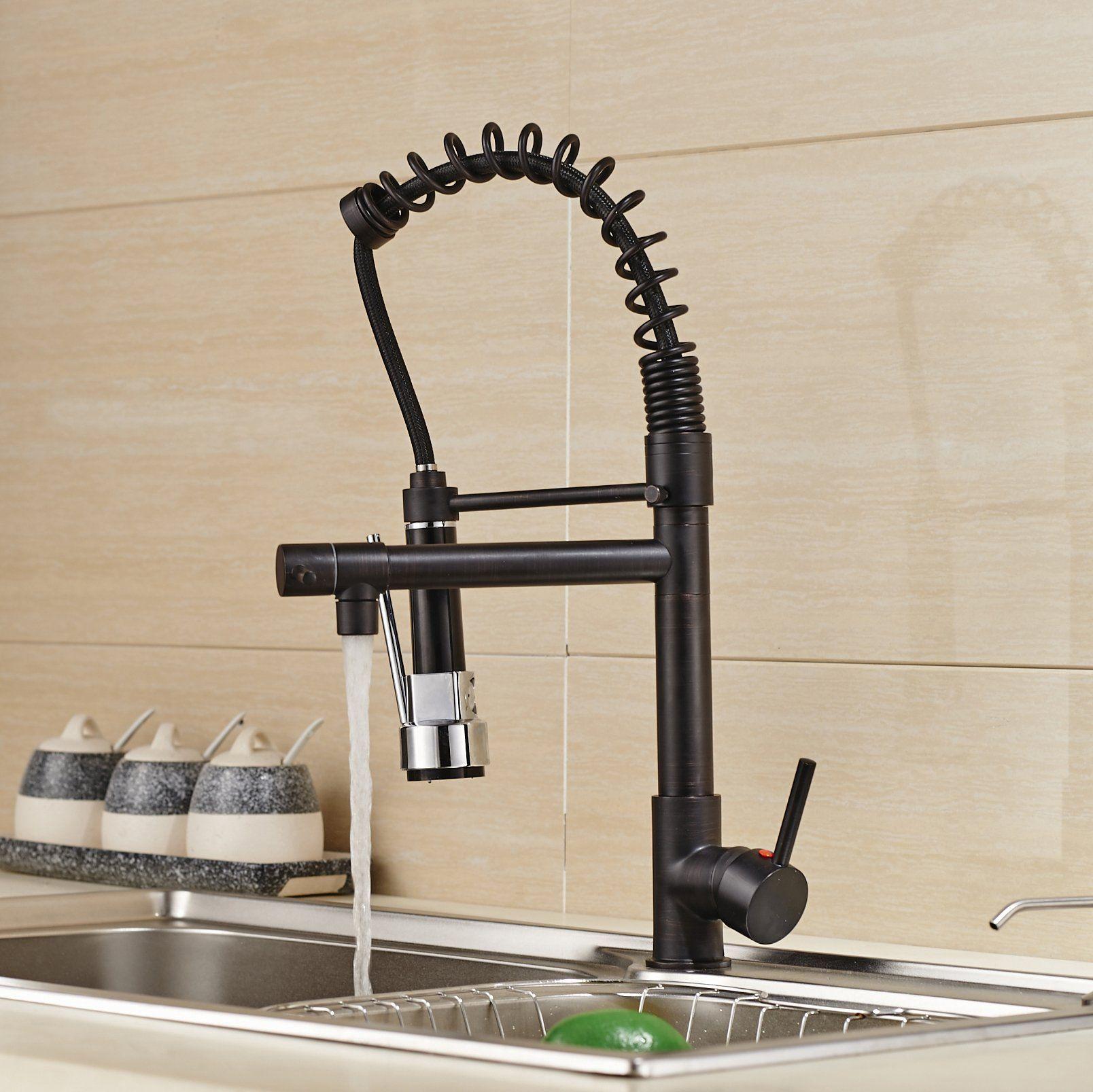 Rozin Oil Rubbed Bronze Pull Down Spray Kitchen Sink Faucet Swivel Spout Mixer Tap Amazon Com Kitchen Sink Faucets Faucet Bronze Kitchen Faucet