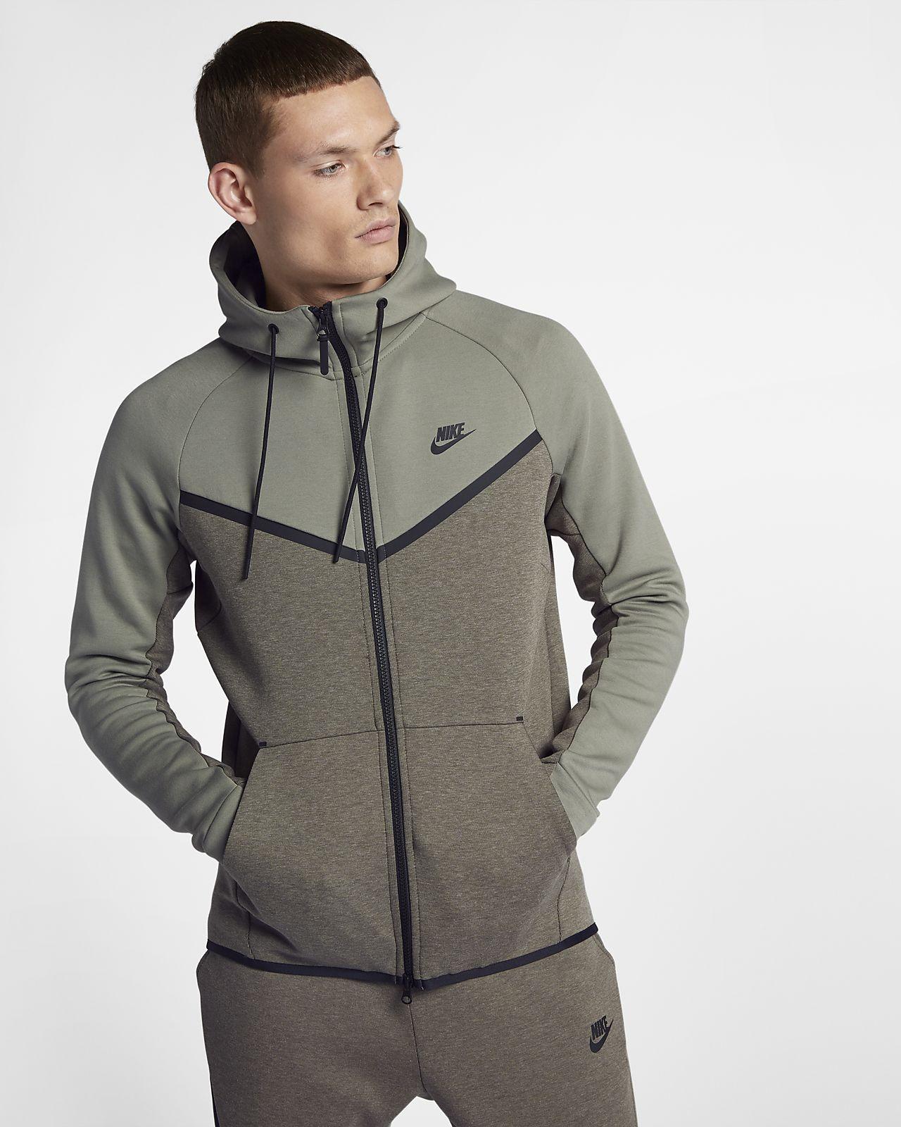 Nike sportswear tech fleece windrunner mens fullzip