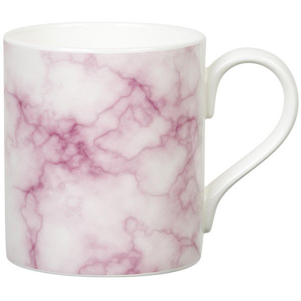 Gary Birks Marble Mug - Pink (¥2,080) ❤ liked on Polyvore featuring home, kitchen & dining, drinkware, filler, kitchen, extras, home decor, pink, tea mug and pink mug
