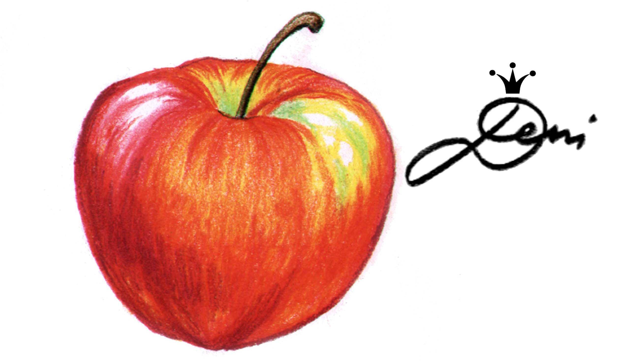 Ich Habe Diesen Apfel Fur Meinen Youtube Channel Deni Zeichnet