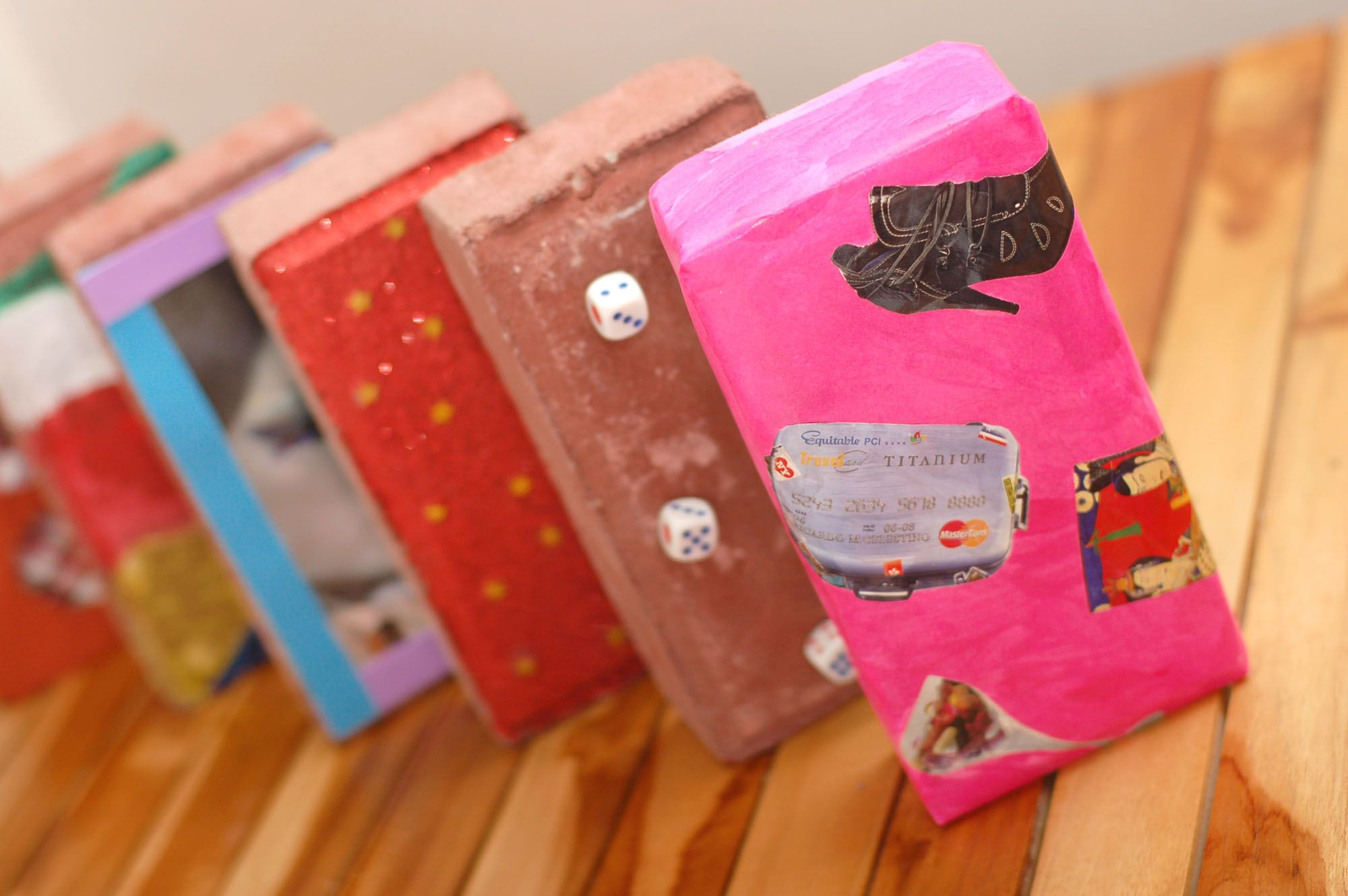 How To Make Bookends Out Of Bricks Diy Bookends Brick Crafts Diy Book