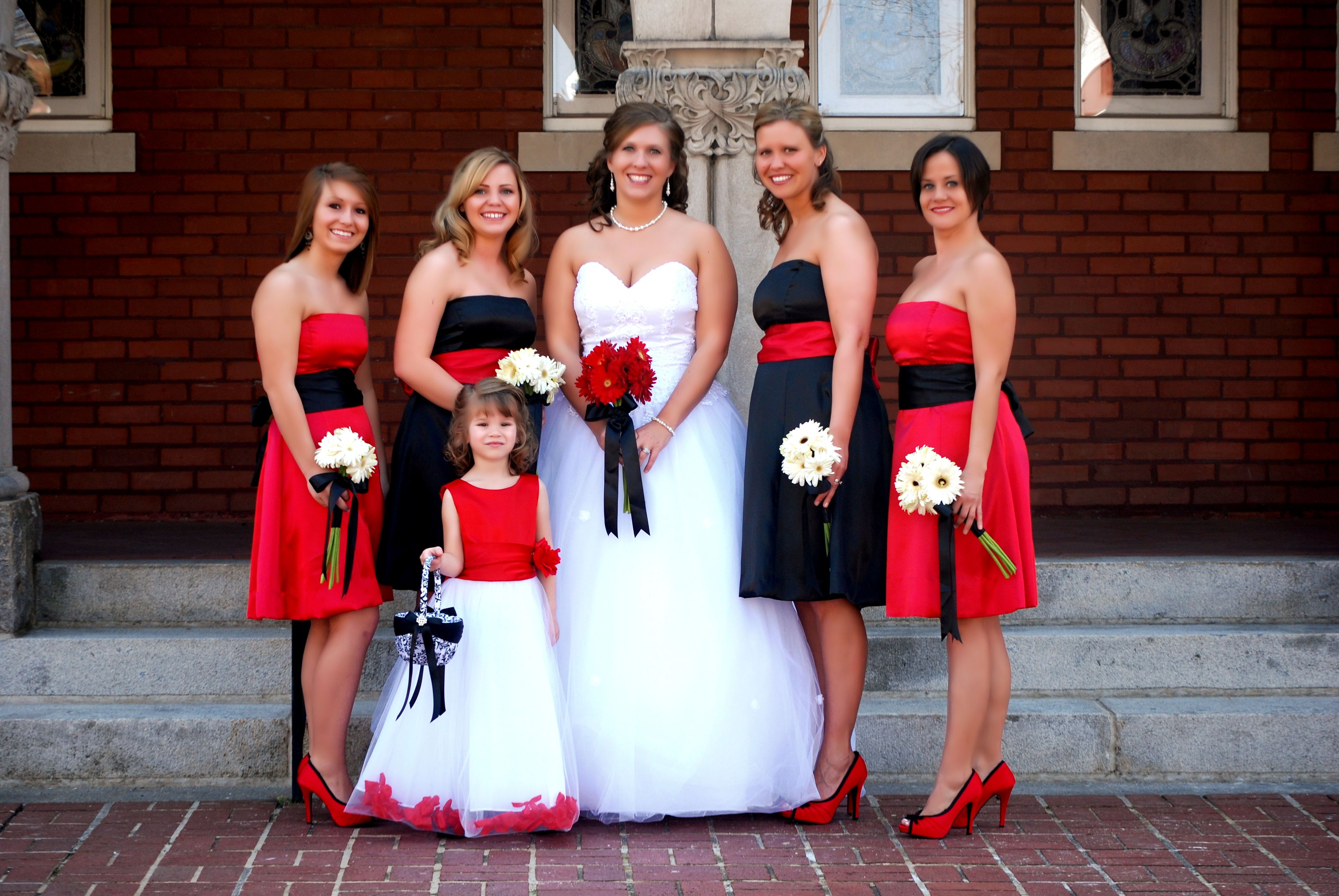 Red Black And White Wedding Love Love Love Love Love