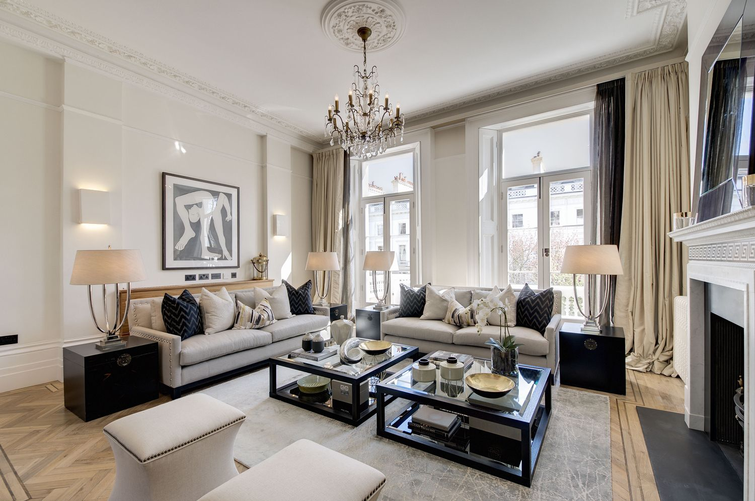 A classic look in this period reception room | Reception ...