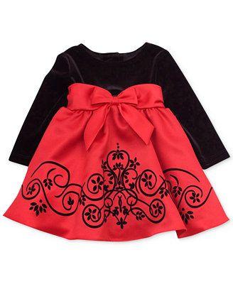 12cf93a889e6 Rare Editions Baby Girls  Velvet Special Occasion Dress