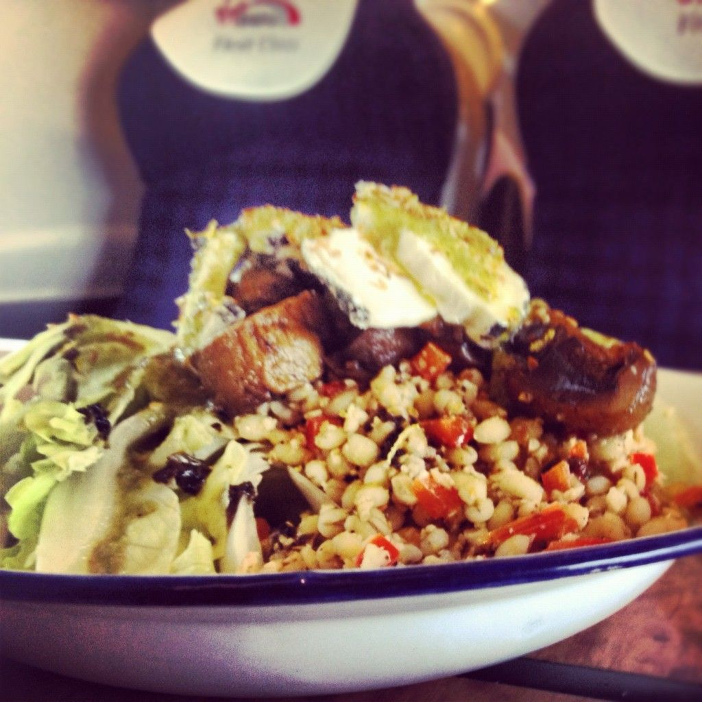 Salad on a Train - My tribute to Virgin on the West Coast |foodstinct.com