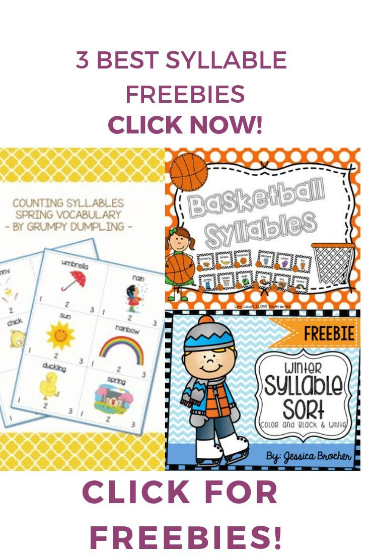 Free Syllable Activities (With images) | Syllables ...