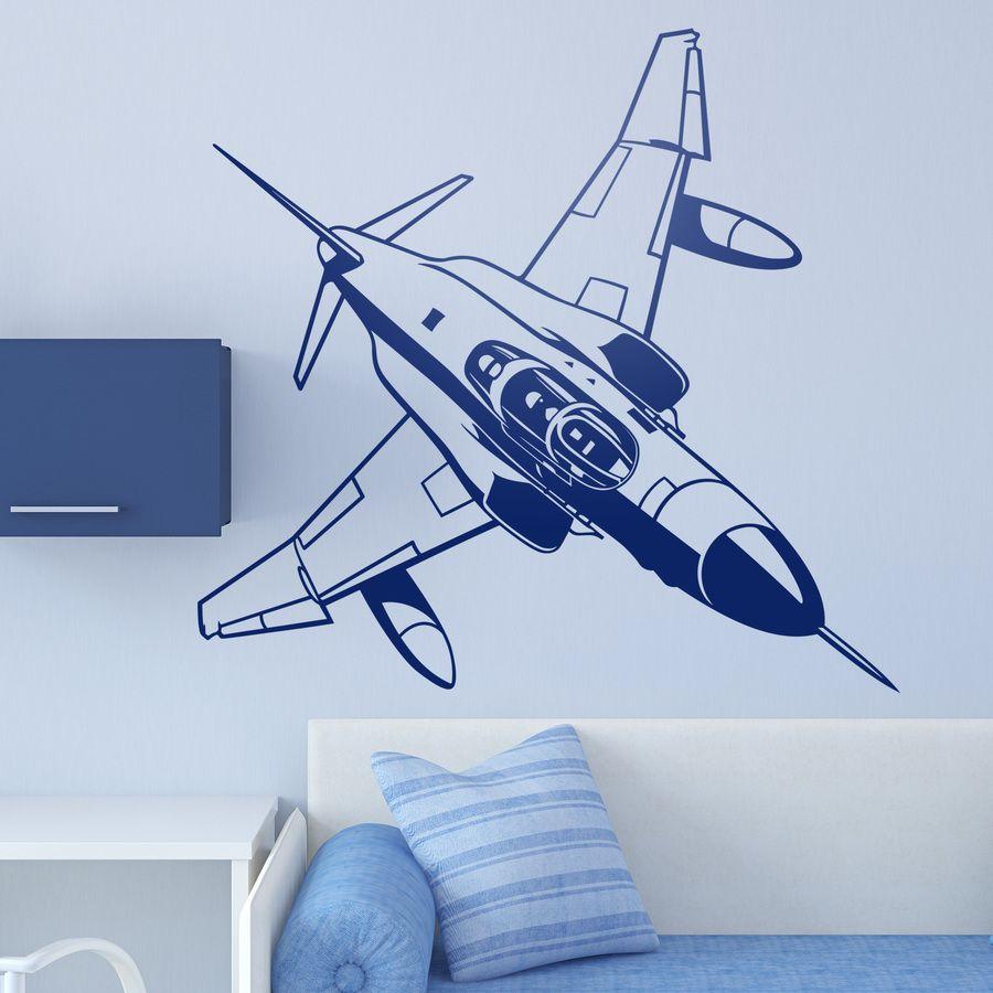 Avión Reactor Militar Vinilos Decorativos Decoración De Aviación Decoración Del Avión Vinilos