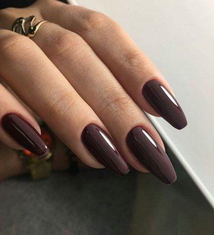 nails coffin long brown 64 ideas nails  brown nails