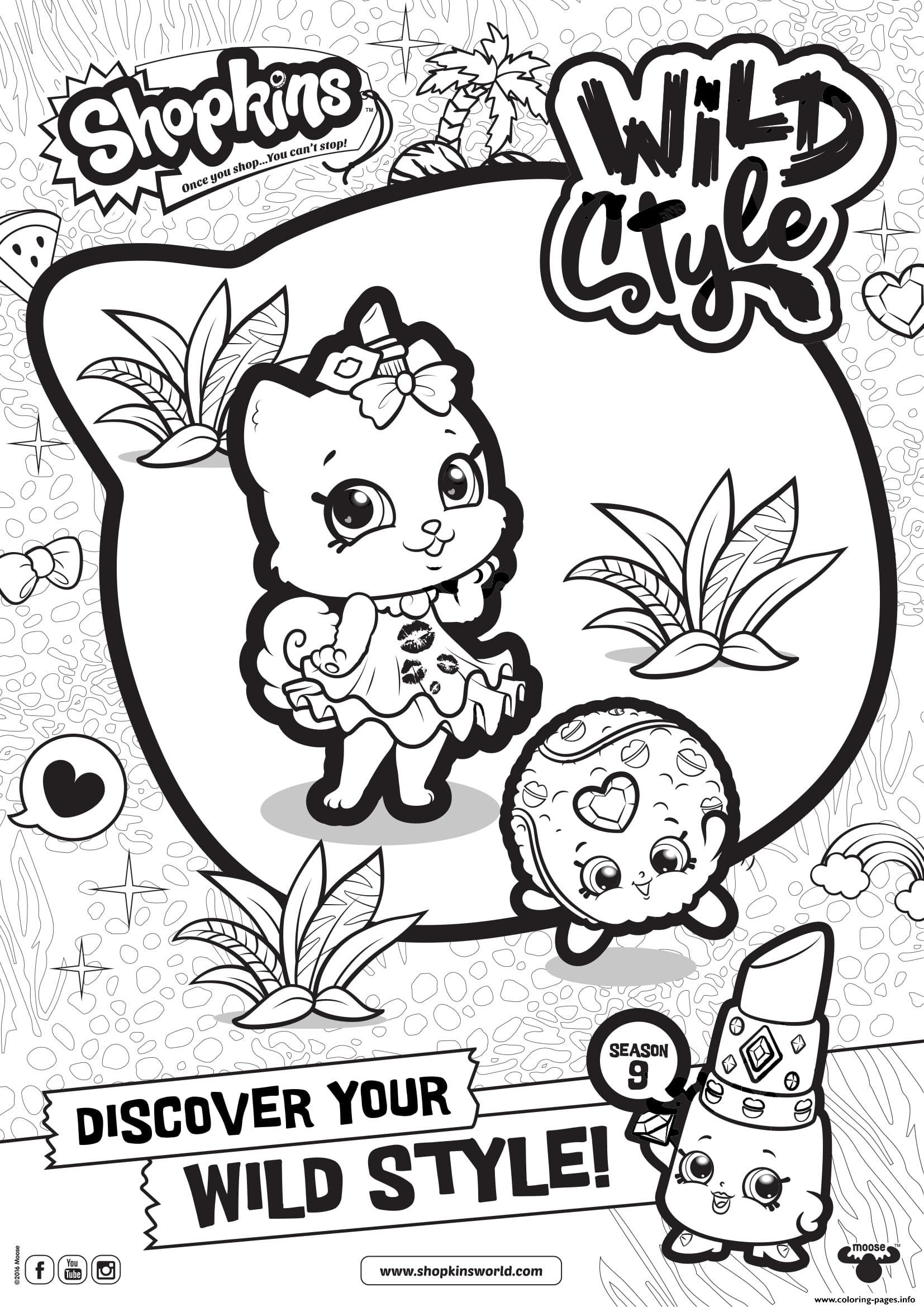 Print Shopkins Season 9 Wild Style 3 Coloring Pages Shopkin
