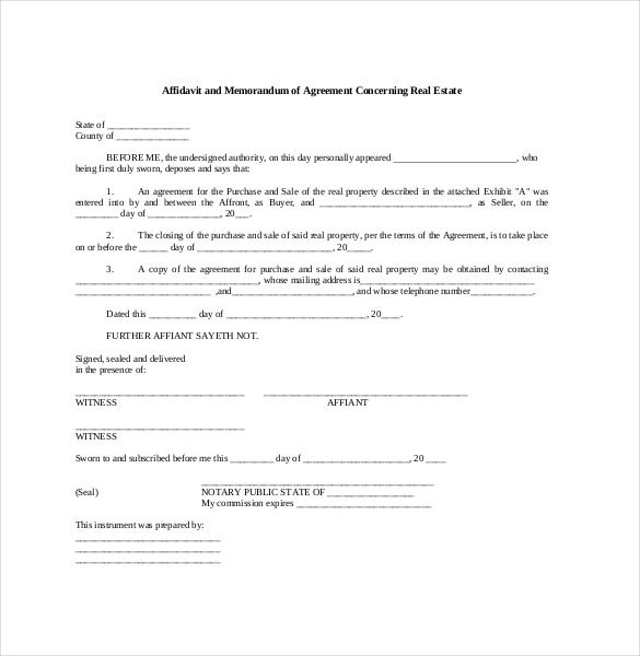 13 Memorandum Of Agreement Templates Word Pdf Words