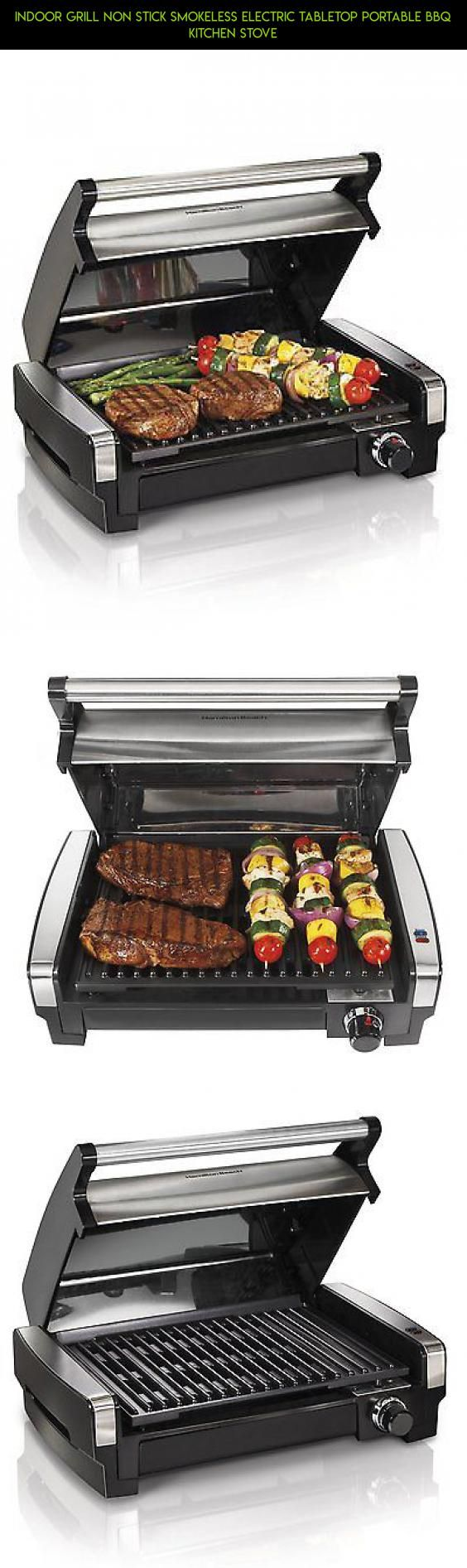 Indoor Grill Non Stick Smokeless Electric Tabletop Portable BBQ ...