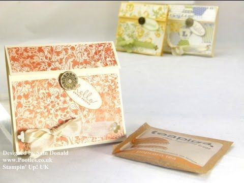 ▶ Stampin Up UK Tea Bag Pouch Tutorial - YouTube