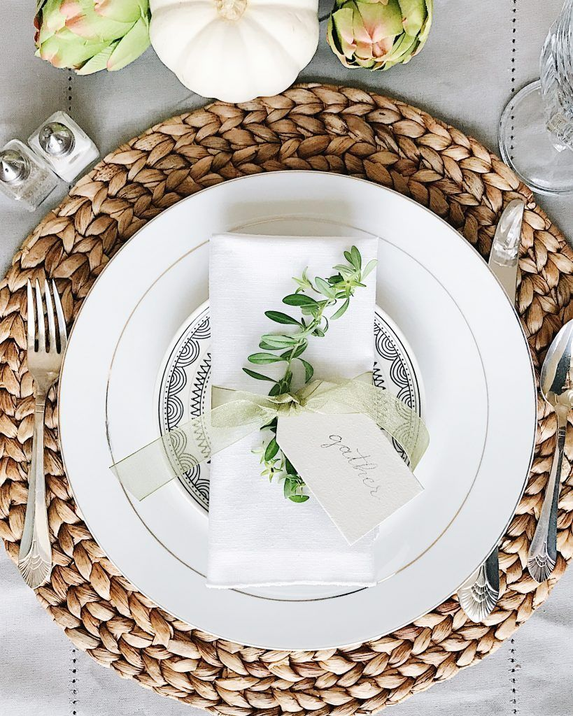 Beautifully Simple Thanksgiving Table Setting Ideas - jane at home