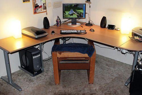 Modified Ikea Galant Desk Ikea Galant Desk Ikea Galant Ikea