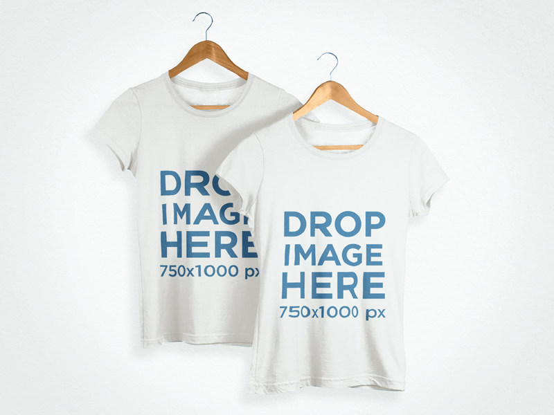 Download New T Shirt Mockup Of Two T Shirts On Clothes Hangers Try It Here Https Placeit Net C Apparel Stages T Shirt Mo Clothing Mockup Shirt Mockup Hoodie Mockup