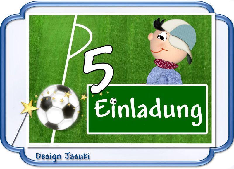 Einladungskarte Kindergeburtstag Fußball 2   **_Einladungskarte  Kindergeburtstag Im Postkartenformat Mit Weißem Umschlag, Motiv Fußball  **Der Preis Euro ...