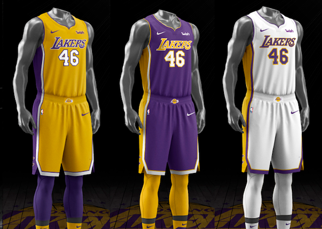 586c4a4beec Lakers Rumors  Nike Unveiling New Jerseys For 2018-19 NBA Season That Have  Retro Feel