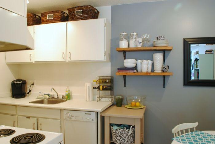 Great Wände Streichen Ideen Kleine Küche Gestalten Hellgraue Wandfarbe Design Ideas