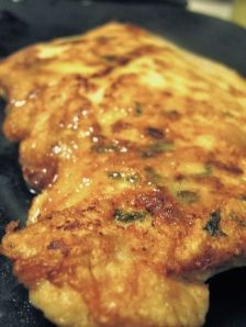 Chicken Francais.  Recipe from Cooking Light.  Lemony deliciousness!