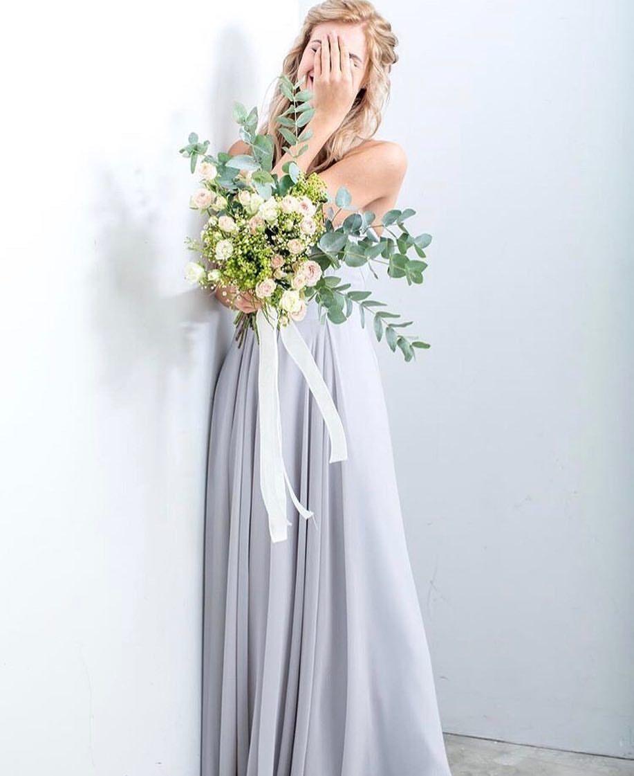A Practical Wedding Real Weddings: Pale Blue Bridesmaid Dresses
