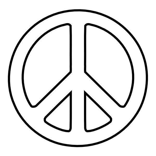 Peace Sign 24 Black White Line Art Christmas Xmas Peace On Earth
