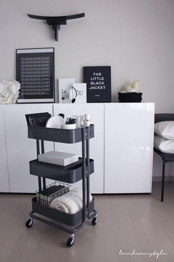 大容量ワゴン イケアのraskog ロスコーグ 2 ボックスとポーチで隠す収納 Love Home 収納 インテリア Home Decor Bedroom House Interior Home Room Design