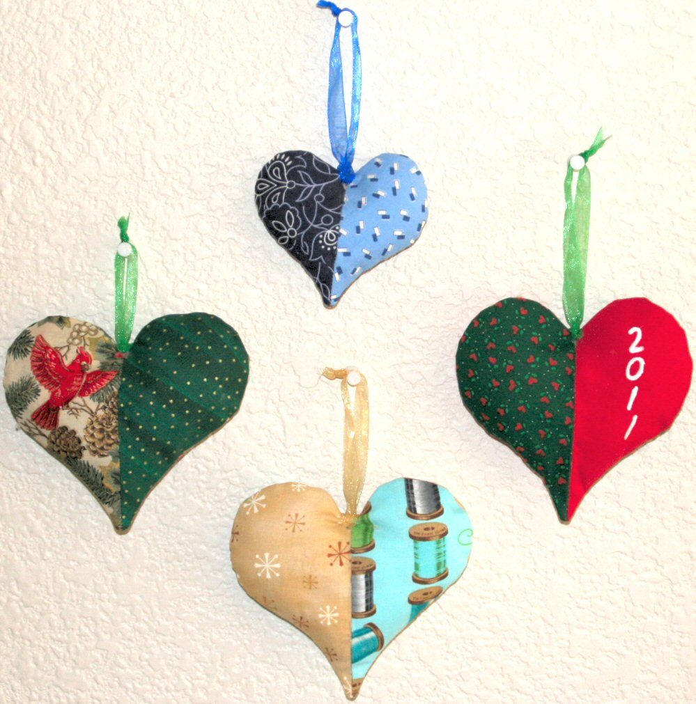 fabric ornaments free patterns | ... Blog Archive » 2011 Havf a ...