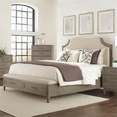 Riverside Furniture Vogue Upholstered Bed With Storage Bench Footboard Riverside Furniture Queen Upholstered Bed King Size Bedroom Sets