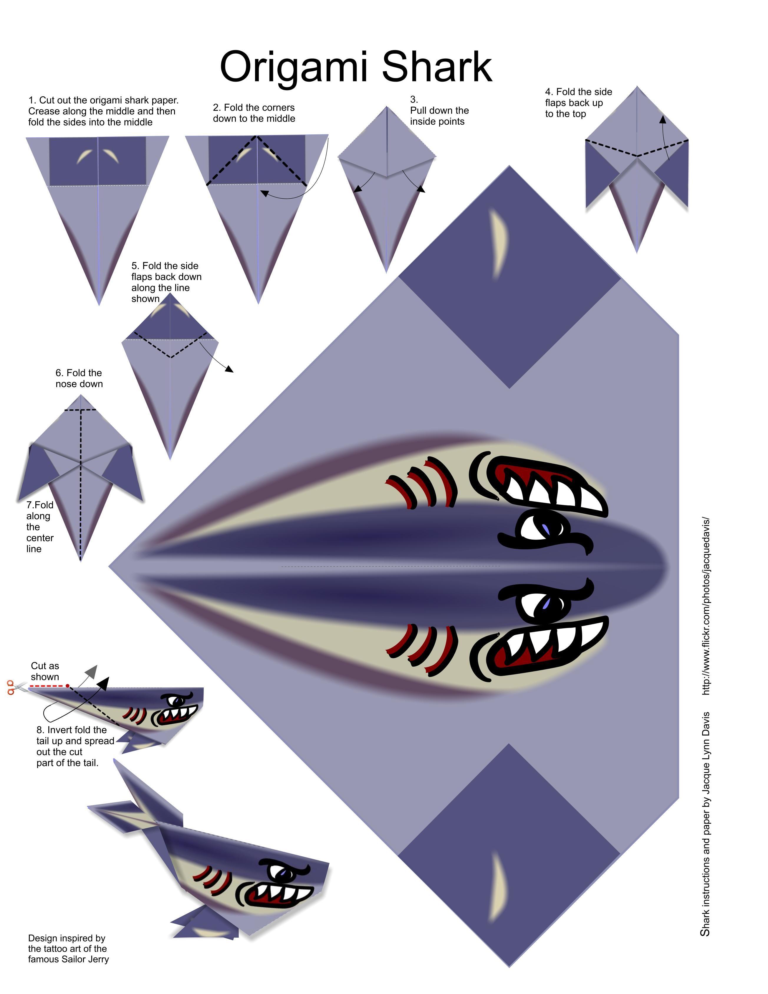 часто картинки акула схемы из бумаги еды, это