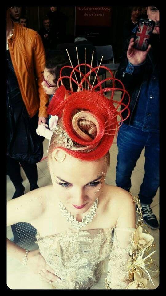 Concours Coiffure Chignon, Olympiades, Saumon, Concours, Cheveux, Cheveux  Burlesques, Cheveux