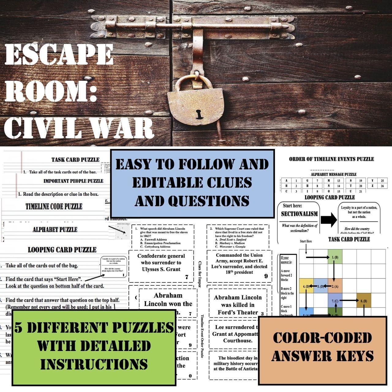 Escape Room Civil War